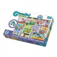 Puzzle zvířátka Gigantic Město 12ks v krabici 40x27x6cm 2+
