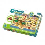 Puzzle zvířátka Gigantic Staveniště 12ks v krabici 40x27x6cm 2+