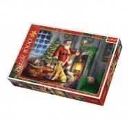 Puzzle koláž Vánoce Čas dárků 1000 dílků v krabici