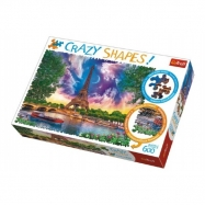 Puzzle Nebe nad Paříží 600 dílků Crazy Shapes 68x48cm v krabici 40x27x6cm