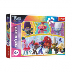 Puzzle Trolls world tour Happy Trolls world 41 x 27,5 cm 160 sztuk