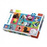 Puzzle Tajný život mazlíčků 100 dílků 41x27,5cm v krabici 29x19x4cm
