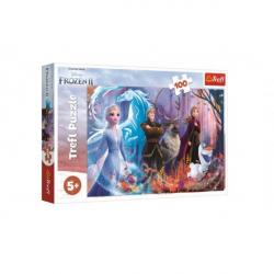 Puzzle Ľadové kráľovstvo II / Frozen II 100 dielikov 41x27,5cm v krabici 29x19x4cm