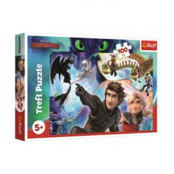 Puzzle Ako vycvičiť draka 100 dielikov 41x27,5cm v krabici 29x19x4cm
