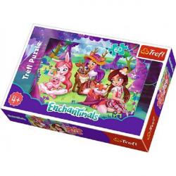 Puzzle Enchantimals 33x22cm 60 dílků v krabici