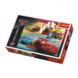 Puzzle Cars 3 / Autá koláž 27x20cm 30 dielikov v krabičke 21x14x4cm