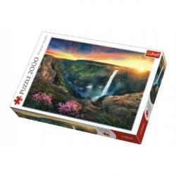 Puzzle Vodopád Háifoss, Island 2000 dielikov 96x68cm v krabici 40x27x6cm