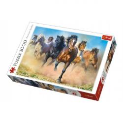 Puzzle Stádo koní 2000 dielikov 96x68cm v krabici 40x27x6cm