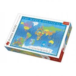 Puzzle Politická mapa sveta 2000 dielikov 96x68cm v krabici 40x27x6cm