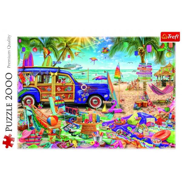 Puzzle Tropická dovolená 2000 dílků