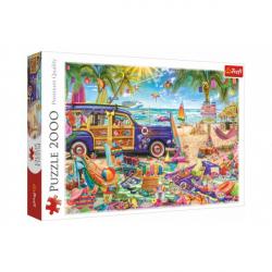 Puzzle Tropická dovolenka 2000 dielikov