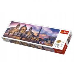 Puzzle Piazza Navona, Rím panorama 500 dielikov 66x23,7cm v krabici 40x13x4cm