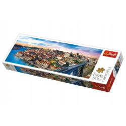 Puzzle Porto, Portugalsko panorama 500 dílků 66x23,7cm v krabici 40x13x4cm