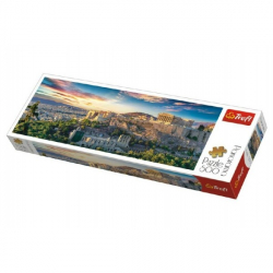 Puzzle Acropolis, Atény panorama 500 dielikov 66x23,7cm v krabici 40x13x4cm