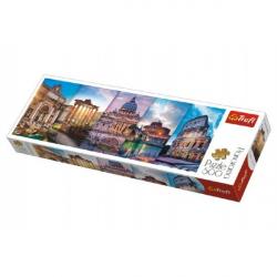 Puzzle Koláž pamiatky Taliansko panoráma 500 dielikov 66x23,7cm v krabici 40x13x4cm