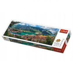 Puzzle Kotor, Montenegro panoráma 500 dielikov 66x23,7cm v krabici 40x13x4cm