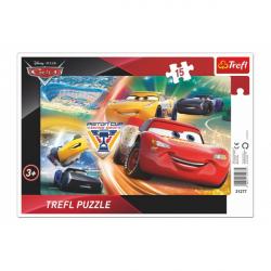 Puzzle doskové Cars / Boj o víťazstvo 33x23cm 15 dielikov