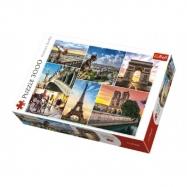 Puzzle Kouzlo Paříže koláž 3000 dílků 116x85cm v krabici 40x27x9cm