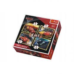 Puzzle 4v1 Autá / Cars 3 Disney v krabici 28x28x6cm