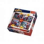 Puzzle 4v1 Spiderman/Disney Marvel Spiderman v krabici 28x28x6cm