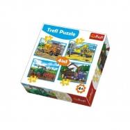 Puzzle 4v1 Pracovní Vozidla
