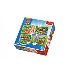 Puzzle 4v1 Tlapková Patrola/Paw Patrol v krabici 28x28x6cm