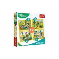 Puzzle 4v1 Rodina Treflíků 20,5x28,5cm v krabici 28x28x6cm