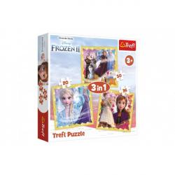 Puzzle 3 w 1 Ice Kingdom II / Frozen II 20 x 19,5 cm
