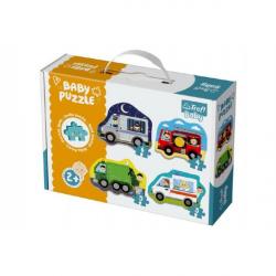 Puzzle baby dopravné prostriedky 4ks v krabici 27x19x6cm 2+