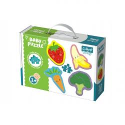 Puzzle baby Zelenina a ovocie 2ks v krabici 27x19x6cm 1+