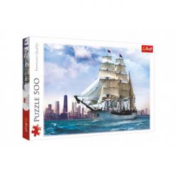 Puzzle Plachtění kolem Chicaga 500 dílků 48x34cm v krabici 40x26,5x4,5cm