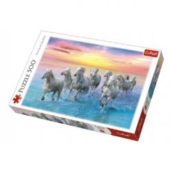 Puzzle Cválajúca biele kone 500 dielikov 48x34cm v krabici 40x27x4,5cm
