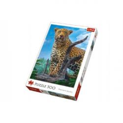 Puzzle Divoký Leopard 500 dielikov 34x48cm v krabici 40x27x4,5cm