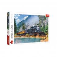 Puzzle  Horský déšť 500 dílků 48x34cm v krabici 40x26,5x4,5cm