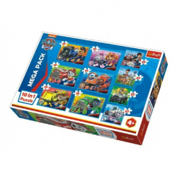Puzzle Paw Patrol Tlapková Patrola 10v1 v krabici 40x27x6cm