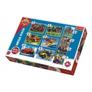 Puzzle Požárník Sam 10v1 v krabici 40x27x6cm