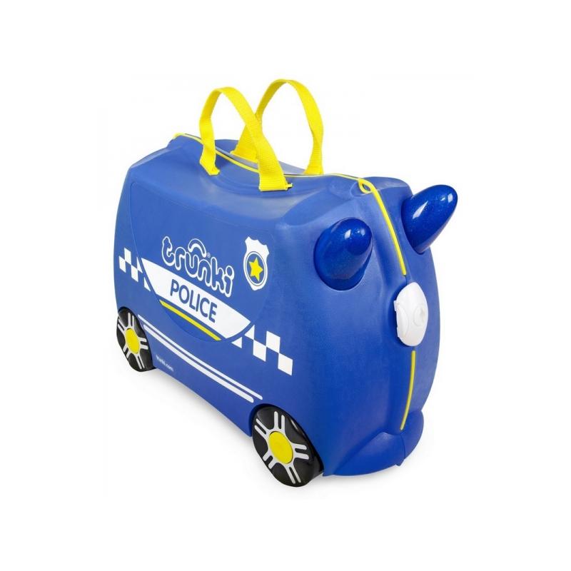 Kufrík + odrážadlo policajné auto Percy