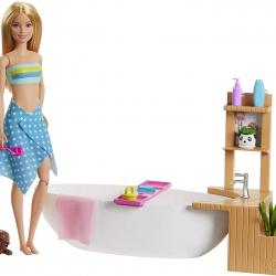 Barbie wellness bábika v kúpeli herný set
