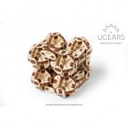 Ugears Dřevěná stavebnice 3D mechanické Puzzle Kostka Flexi