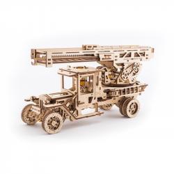 Ugears dřevěná stavebnice 3D mechanické Puzzle - UGM 11 s požárním žebříkem