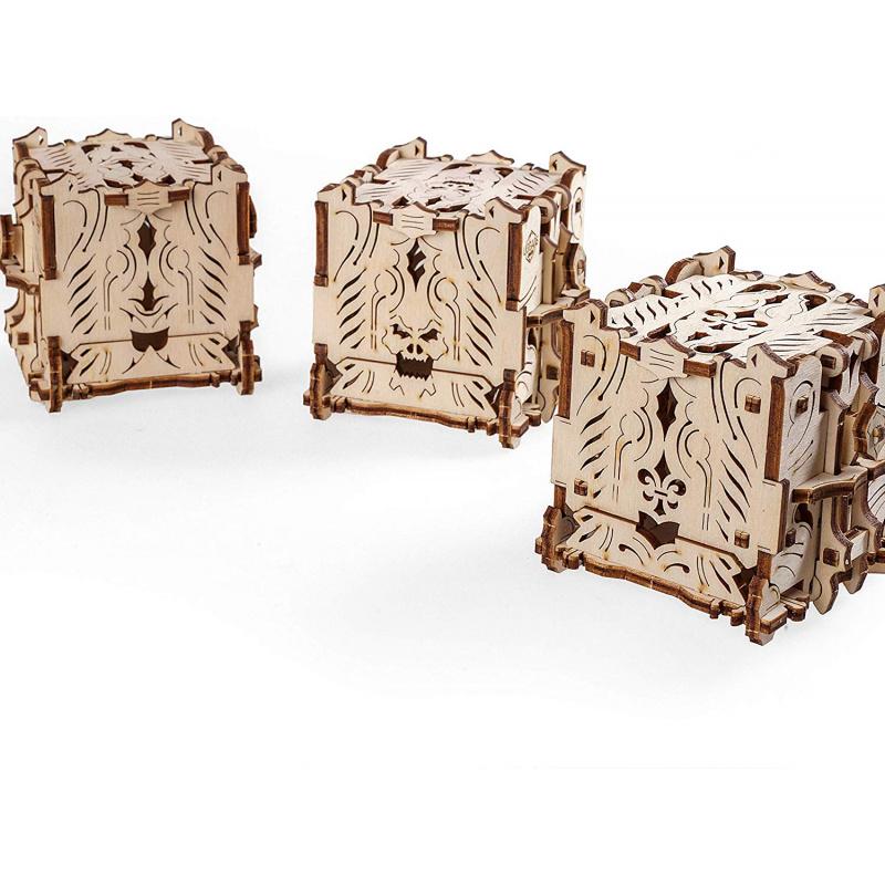 Ugears 3D dřevěné mechanické puzzle Kostková věž