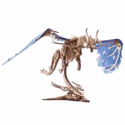 Ugears 3D dřevěné mechanické puzzle Vířící drak