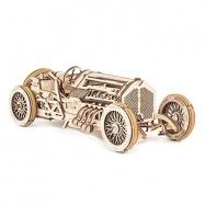 Ugears dřevěná stavebnice 3D mechanické Puzzle - Auto U-9 Grand Prix
