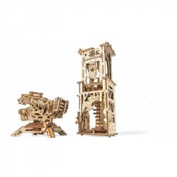 Ugears dřevěná stavebnice 3D mechanické Puzzle - Věž Archballista