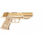 Ugears dřevěná stavebnice 3D mechanické Puzzle - Pistol Wolf-01