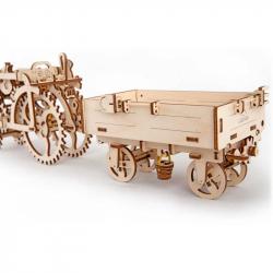 Ugears dřevěná stavebnice 3D mechanické Puzzle - Vlečka