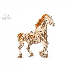 Ugears Dřevěná stavebnice 3D mechanické puzzle Kůň
