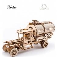 Ugears dřevěná stavebnice 3D mechanické Puzzle - Tanker