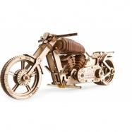 Ugears dřevěná stavebnice 3D mechanické Puzzle - Motocykl