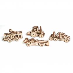 Ugears dřevěná stavebnice 3D mechanické Puzzle - U-fidget vozidla